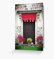 Door in Bardi Castle Greeting Card