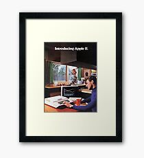 APPLE 2 CLASSIC AD  Framed Print