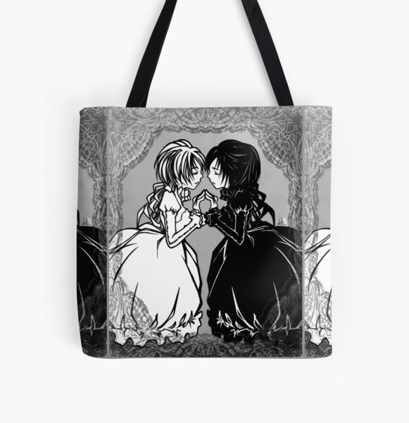 Mirror - mirror emotion, happy white, sad black All Over Print Tote Bag