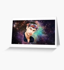 Theo James-Flower Crown Greeting Card