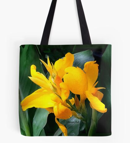 A Bright Spot by the Pond ~ Cannas Tote Bag