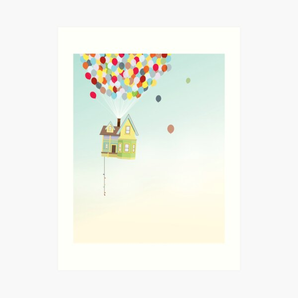 Up: Adventrue is out there Art Print
