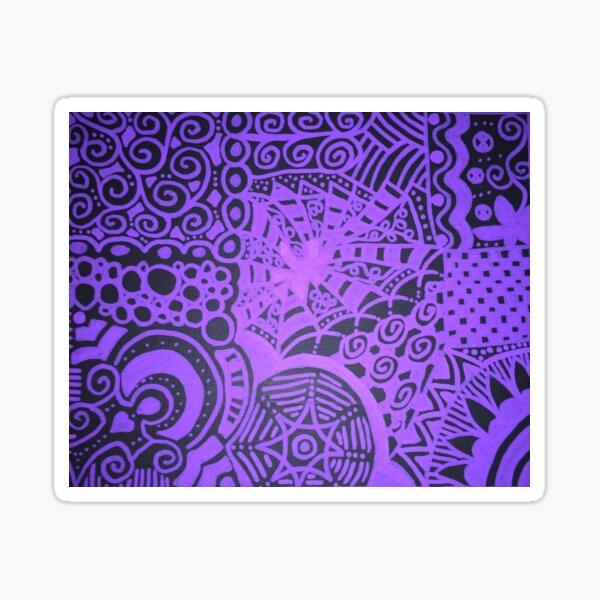 Purple Lace Sticker
