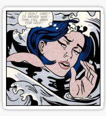 Lichtenstein's id rather sink Sticker