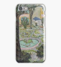 Vincent Van Gogh -  Courtyard Of  Hospital In Arles, 1889 iPhone Case/Skin