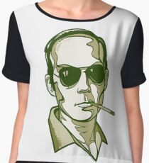 Hunter S. Thompson green Women's Chiffon Top