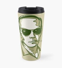 Hunter S. Thompson green Travel Mug