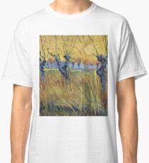 Vincent Van Gogh - Pollarded Willows And Setting Sun 1888 Classic T-Shirt