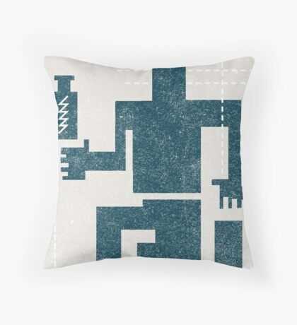 Buffalo Factory- Sitting Figure with Lightning in a Bottle Throw Pillow