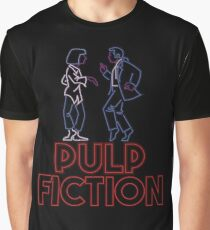 Pulp Fiction - Neon Lights Graphic T-Shirt