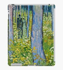 Vincent Van Gogh - Undergrowth With Two Figures, 1890  iPad Case/Skin