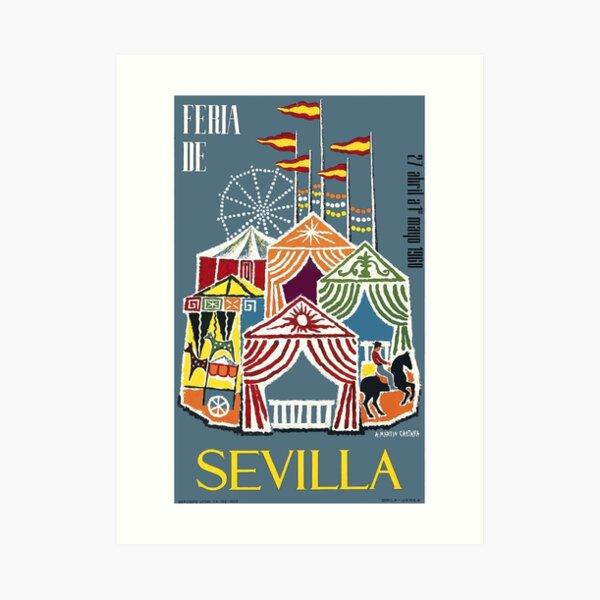 Spain 1960 Seville Festival Poster Art Print