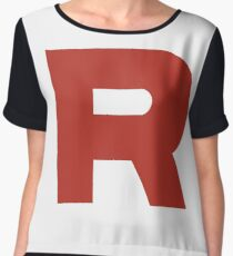 Team Rocket Logo Chiffon Top