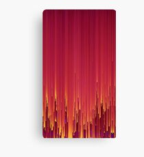 Red Glitch Canvas Print
