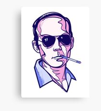Hunter S. Thompson violet Canvas Print