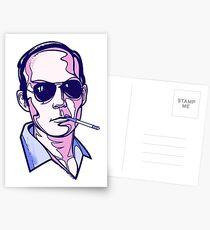 Hunter S. Thompson violet Postcards