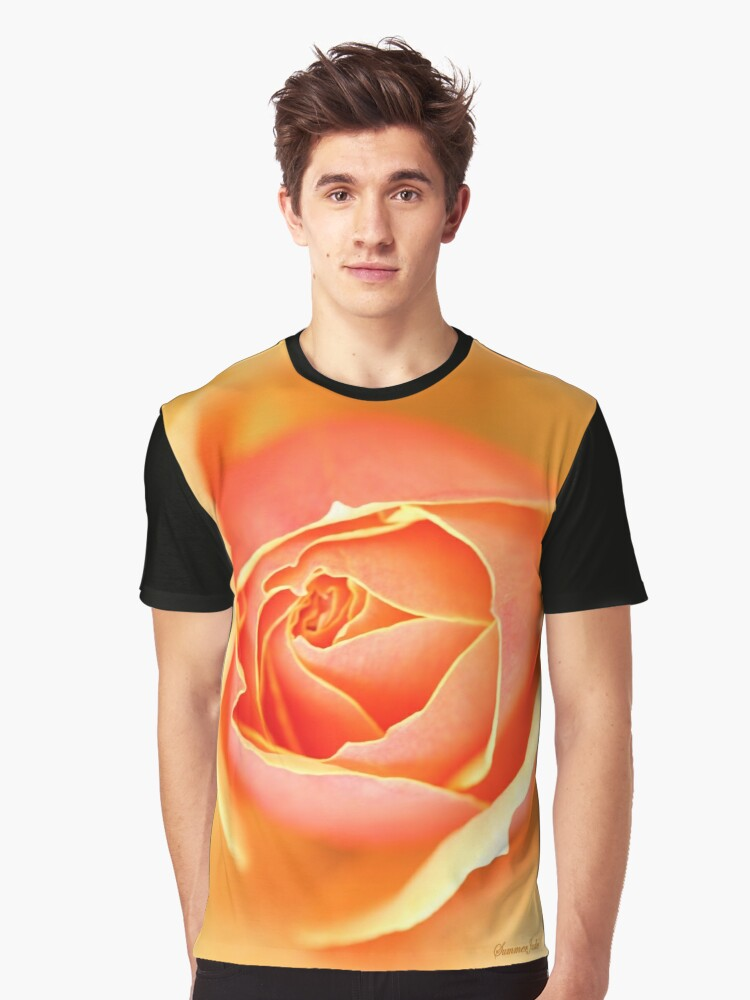 Melting Rose ~ a Flood of Color Graphic T-Shirt Front