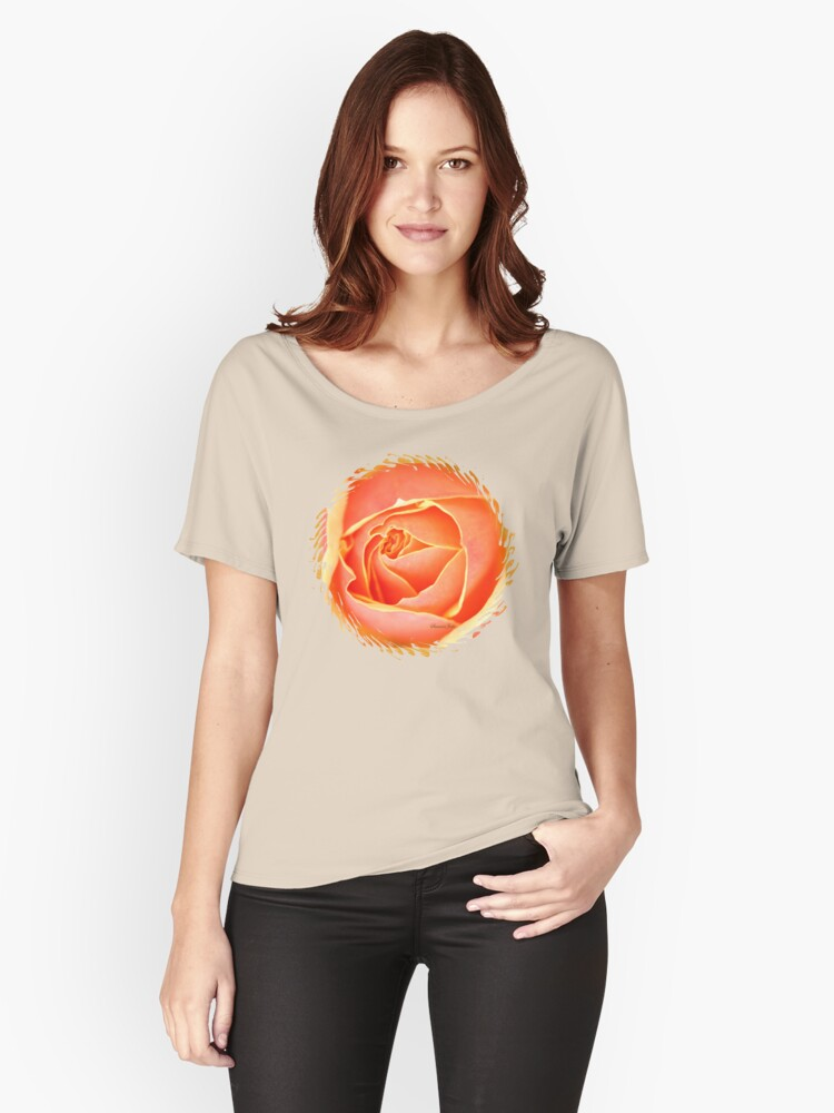 Melting Rose ~ a Flood of Color Women's Relaxed Fit T-Shirt Front