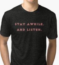 Camiseta de tejido mixto Quedarse un rato