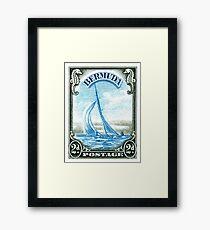 1936 Bermuda Yacht Postage Stamp Framed Print