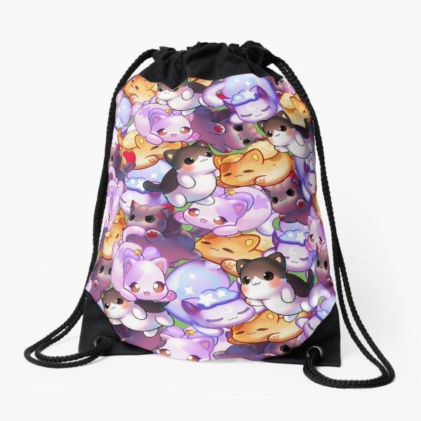 Aphmau Meow Plushies Anime Cats Drawstring Bag