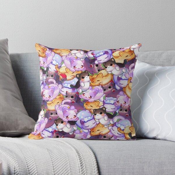 Aphmau Meow Plushies Anime Cats Throw Pillow