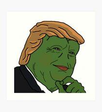 Pepe Trump Art Print