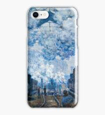 Claude Monet - The Gare Saint Lazare Arrival of a Train (1877)  iPhone Case/Skin