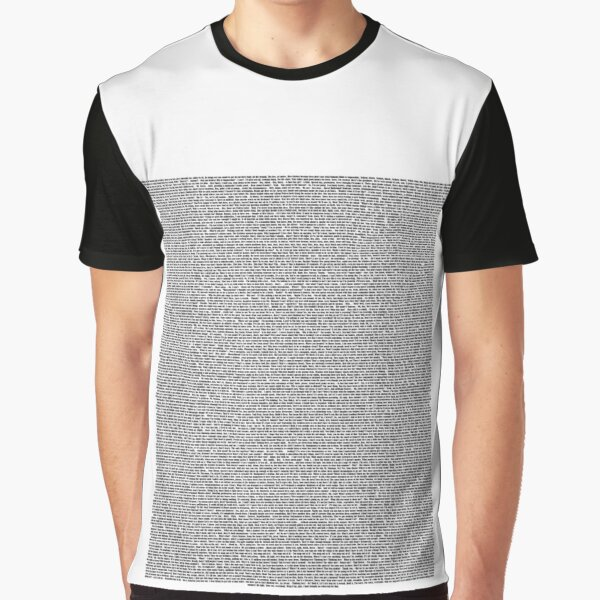 Bee Movie Script (Updated: Check Description For Details) Graphic T-Shirt