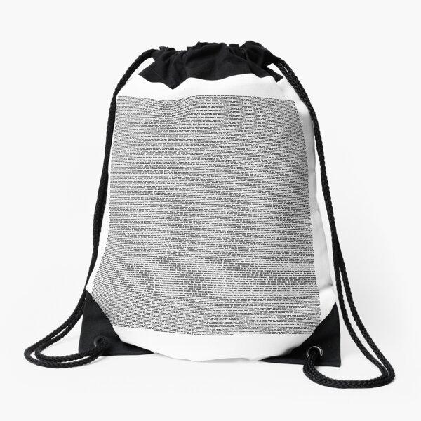 Bee Movie Script (Updated: Check Description For Details) Drawstring Bag