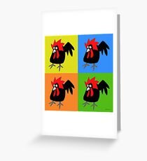 Funky and Cute Chicken Pop Art Greeting Card