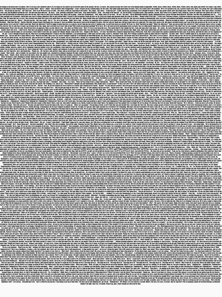 Bee Movie Script (Updated: Check Description For Details) by raviolidesigns