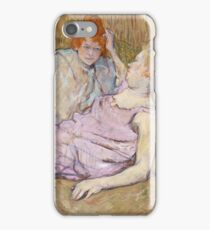 Henri De Toulouse Lautrec The Sofa 1896  iPhone Case/Skin