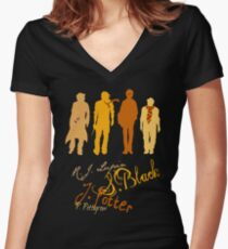 Four Marauding Marauders Women's Fitted V-Neck T-Shirt