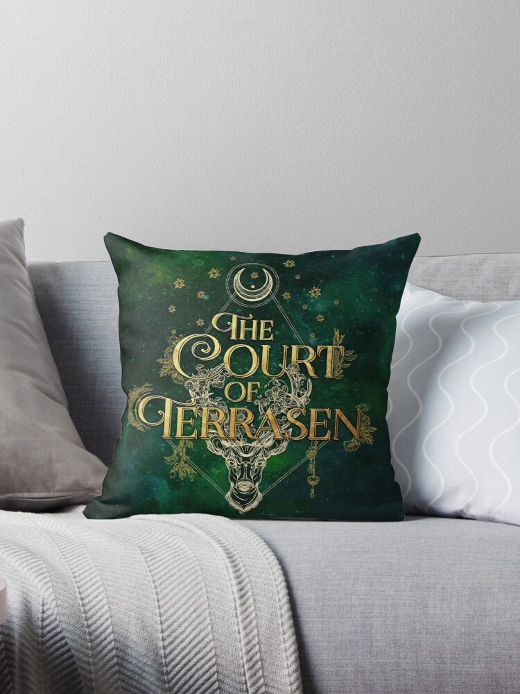 Quot The Court Of Terrasen Quot Throw Pillow By Eviebookish