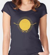 Sonnenanbeter Tailliertes Rundhals-Shirt