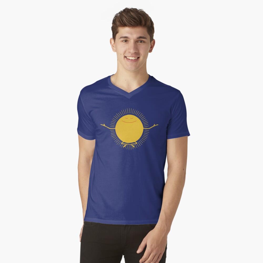 Adorador del sol Camiseta de cuello en V