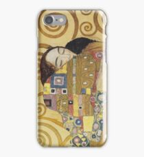 Gustav Klimt - Stoclet Frieze - The Embrace, 1909 iPhone Case/Skin