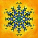 Sun Dance Mandala by Lucie Rovná
