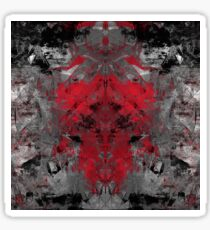 abstract  red/grey Sticker