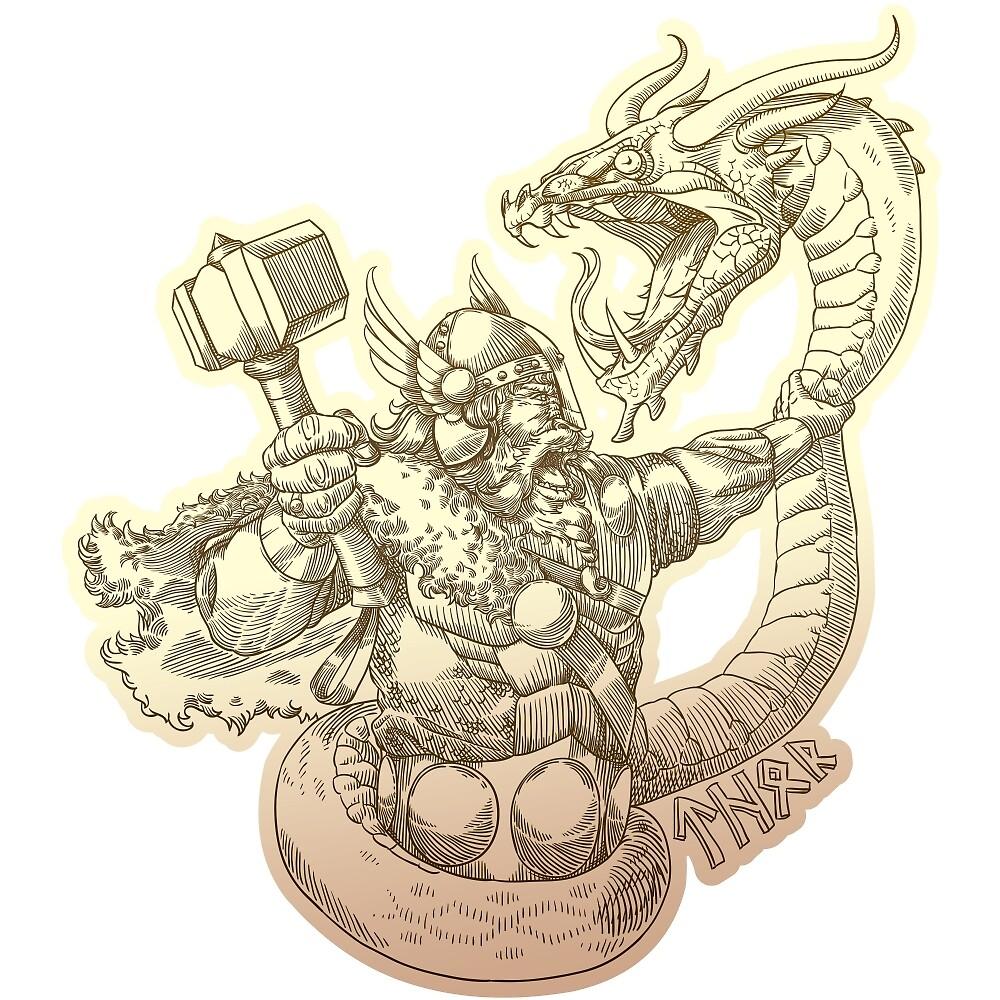 Norse god Thor by Inshader