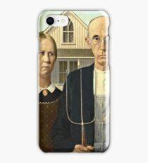 Grant Wood - American Gothic (1930)  iPhone Case/Skin