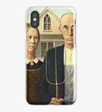 Grant Wood - American Gothic (1930)  iPhone Case/Skin