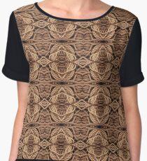 String Pattern Women's Chiffon Top
