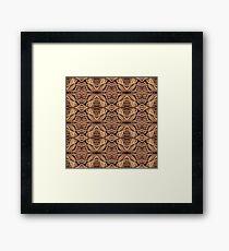 String Pattern Framed Print