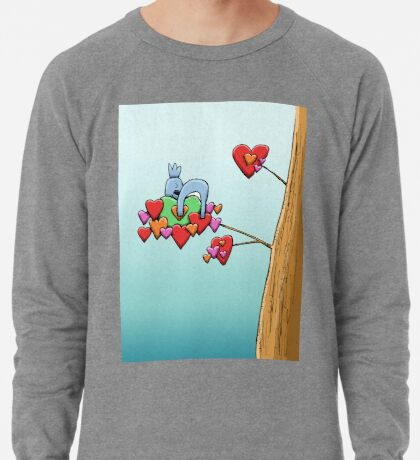 Cute Koala Sleeping on Hearts Lightweight Sweatshirt