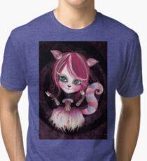 Cheshire Kitty Tri-blend T-Shirt