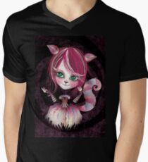 Cheshire Kitty Men's V-Neck T-Shirt