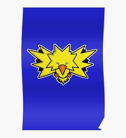 Super Cute Legendary Bird - Team Yellow Poster