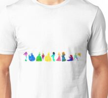 11 Princesses Inspired Silhouette Unisex T-Shirt